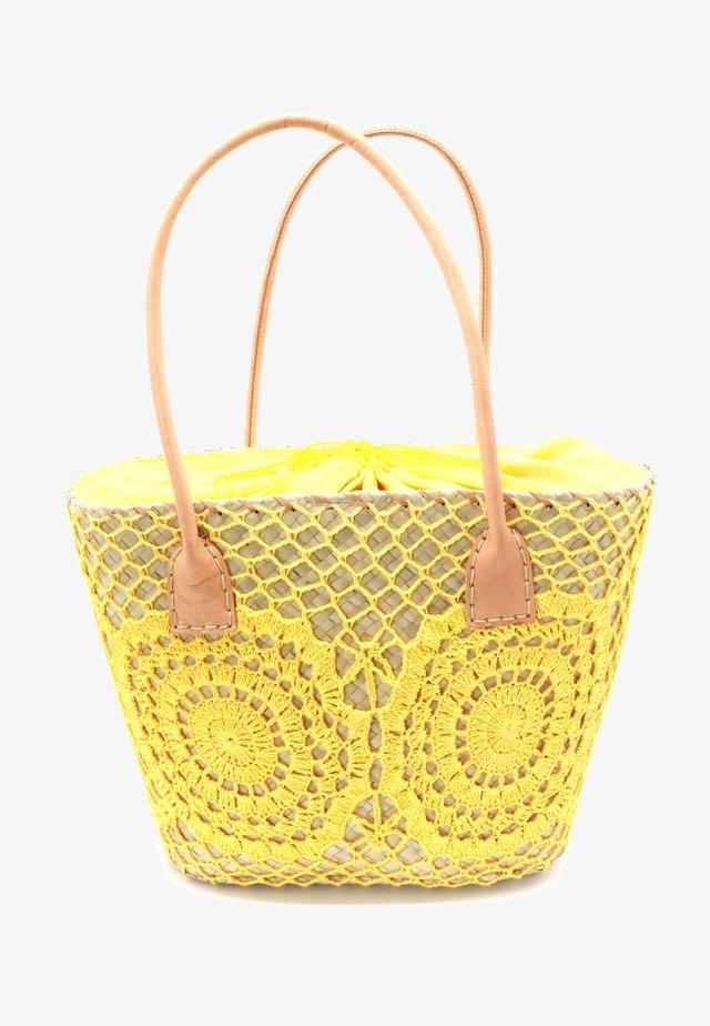 CROCHET  - Tote bag - yellow
