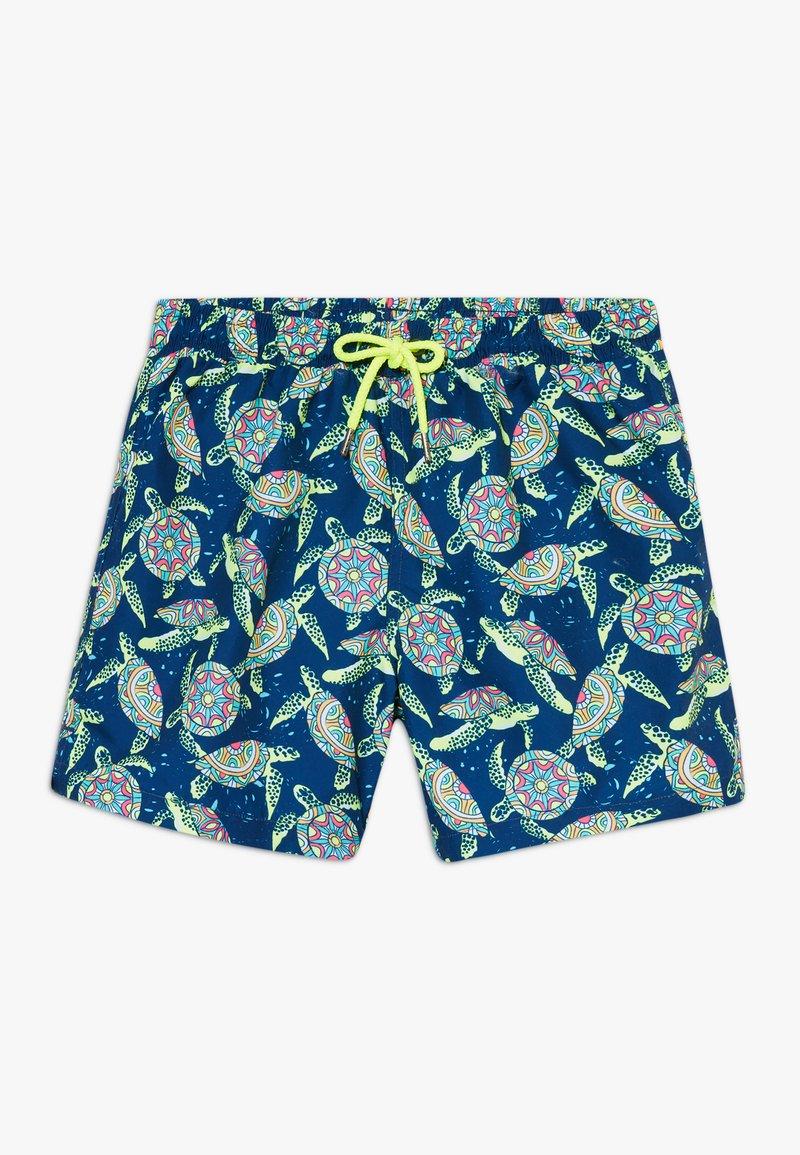Sunuva - BOYS PHSYCHODELLIC TURTLE - Szorty kąpielowe - navy