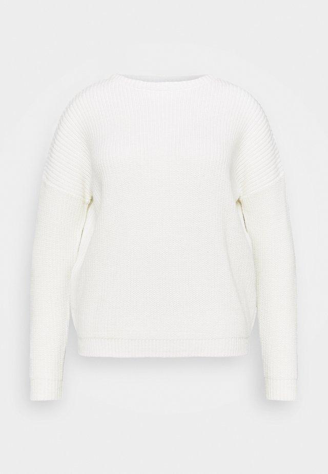CREW NECK JUMPER - Svetr - white