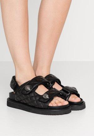 ORSON - Sandaalit nilkkaremmillä - black