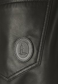 Trussardi - TROUSERS PANT - Leather trousers - black - 2