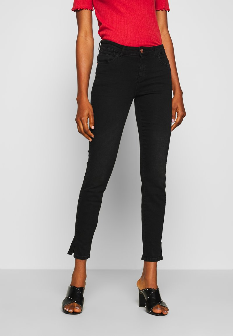 Noisy May - NMKIMMY NW SKINNY SLIT - Jeans Skinny Fit - black denim