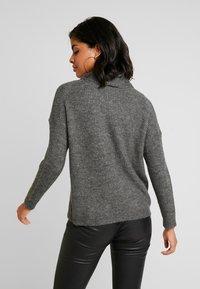 ONLY - ONLMIRNA ROLLNECK - Pullover - dark grey melange - 2