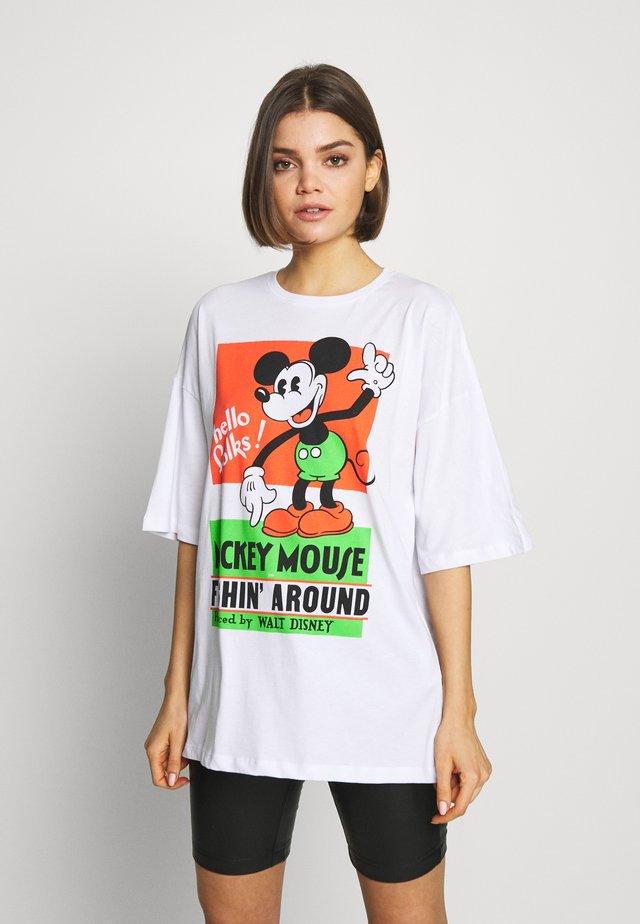 LIZ VINTAGE MICK - Camiseta estampada - white