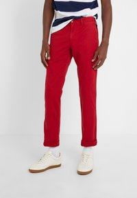 Polo Ralph Lauren - SLIM FIT BEDFORD PANT - Spodnie materiałowe - pioneer red - 0