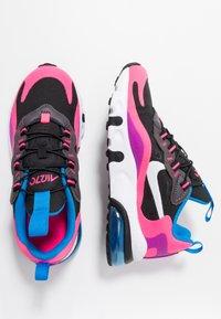 Nike Sportswear - AIR MAX 270 REACT - Scarpe senza lacci - black/white/hyper pink/vivid purple - 0