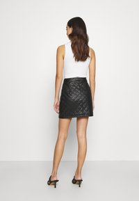 Miss Selfridge - QUILTED SKIRT - A-line skirt - black - 2
