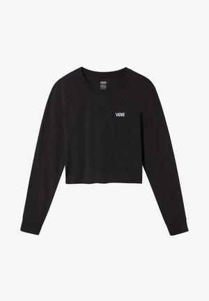 JUNIOR V CROP - Long sleeved top - black-white