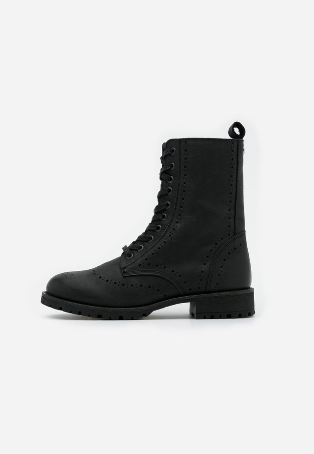 AMY BROGUE BOOT - Veterboots - black