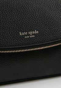 kate spade new york - POLLY LARGE FLAP CROSSBODY - Across body bag - black - 6