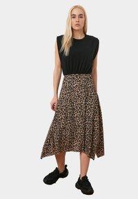 Trendyol - A-line skirt - brown - 1