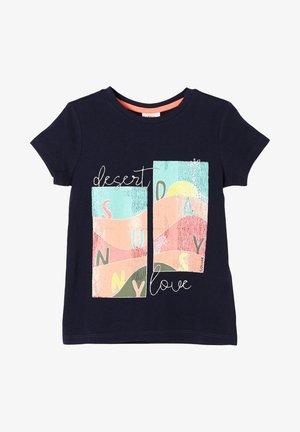 MIT GLITZER - Print T-shirt - dark blue