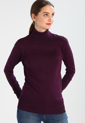 ASTRID ROLL NECK - Strikpullover /Striktrøjer - dark jewel