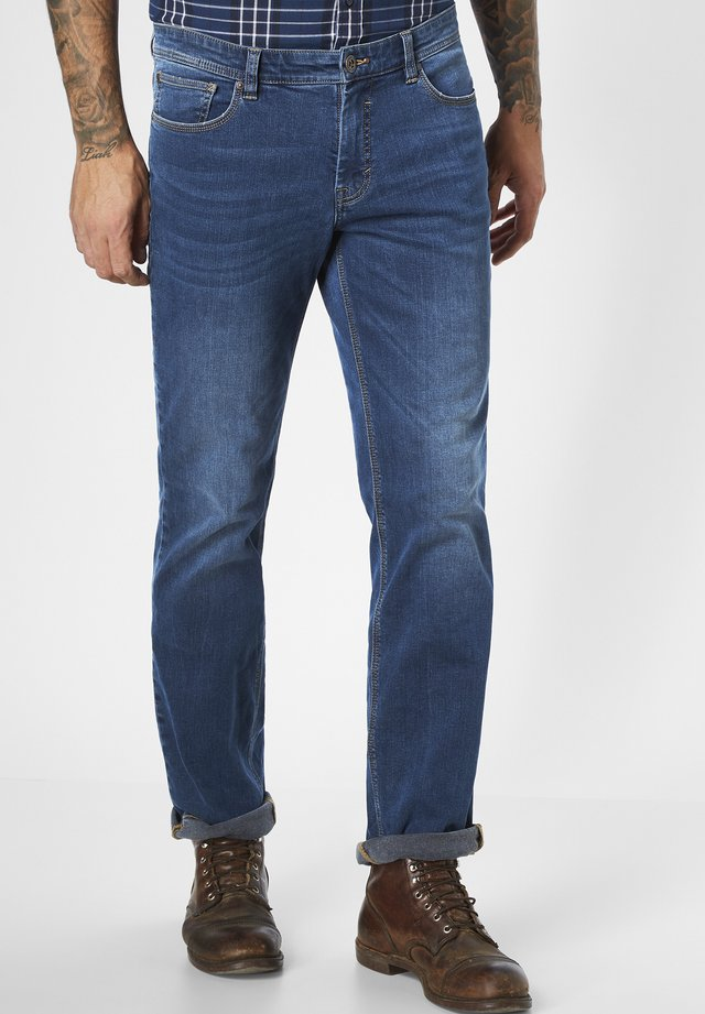 Straight leg jeans - blue-black denim