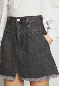 Free People - SIDECAR MINI - Denim skirt - black - 4