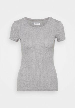 T-shirts med print - mottled grey