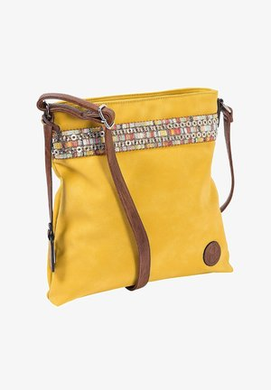 Across body bag - yellow nut antique