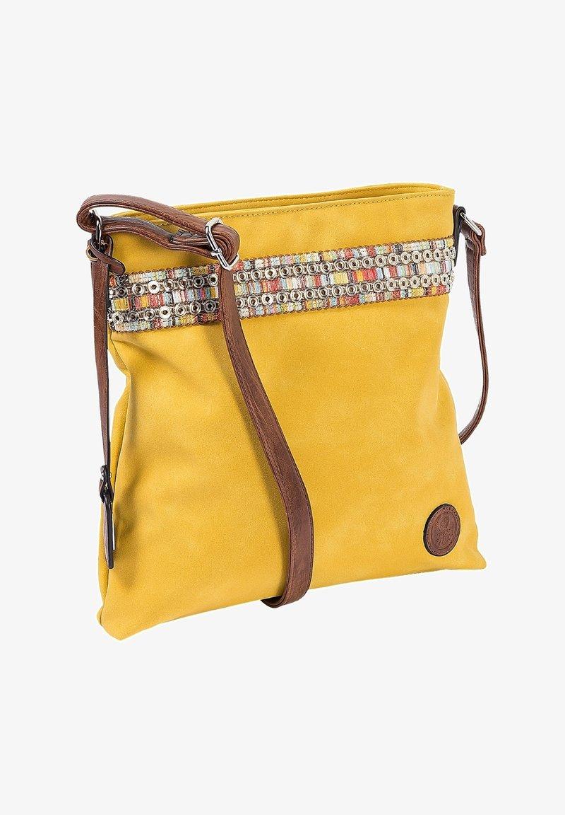 Rieker - Across body bag - yellow nut antique