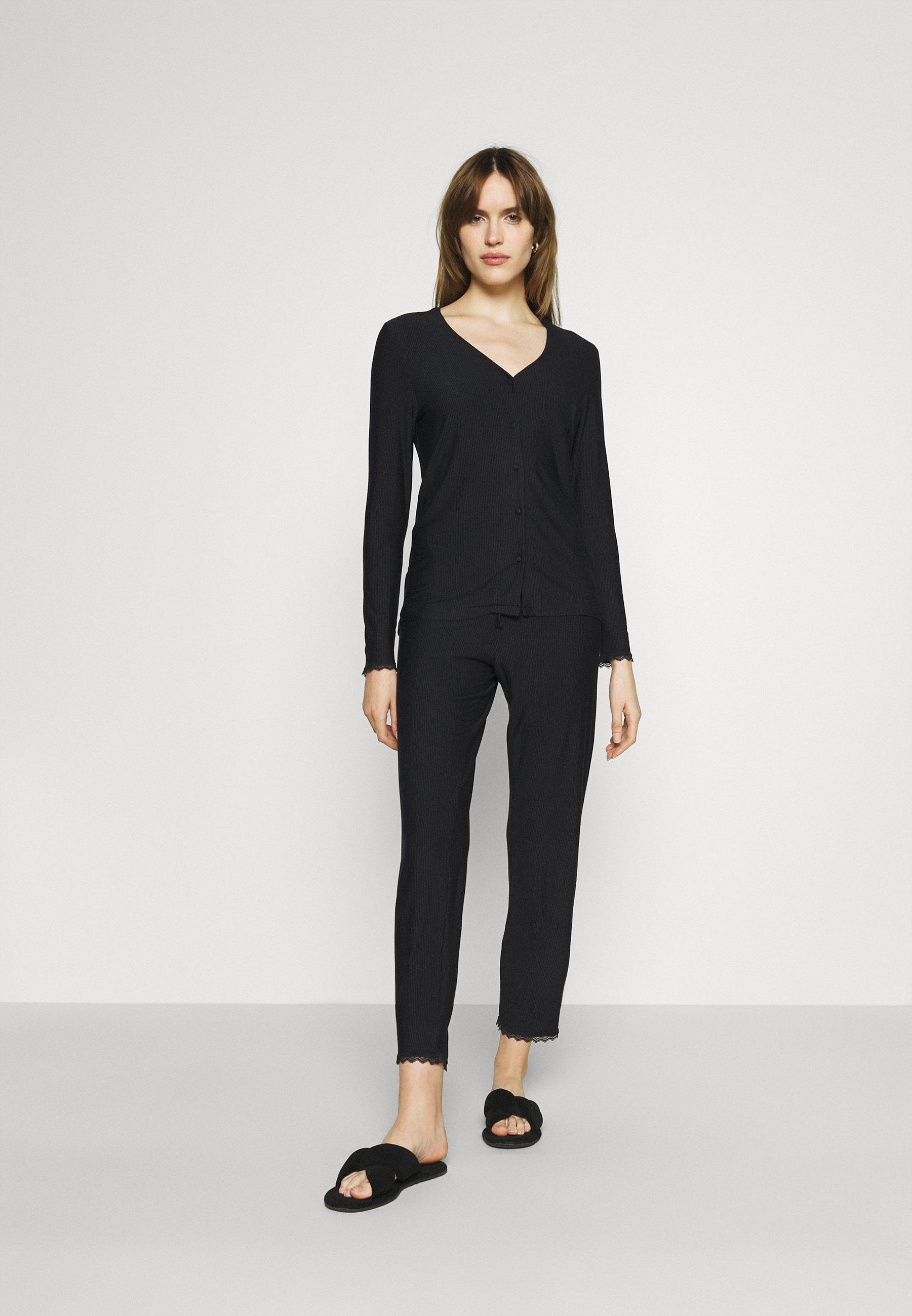 Femme SOFT STRIPES LONGSLEEVE LONG PANTS - Pyjama