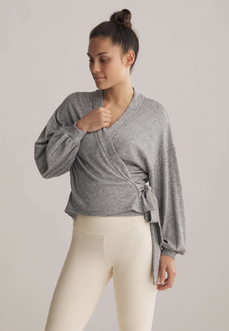 OYSHO - WRAP - Cardigan - light grey