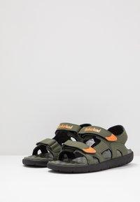 Timberland - PERKINS ROW 2 STRAP - Walking sandals - dark green - 2