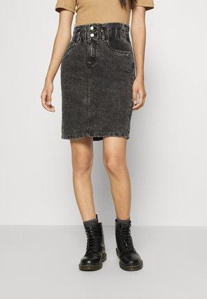 ONLMILLIE LIFE SKIRT  - A-line skirt - grey denim