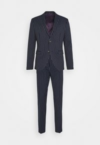 Isaac Dewhirst - BOLD STRIPE SUIT - Suit - dark blue - 11