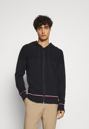 STRUCTURED BRANDED ZIP HOODY - Cardigan - blue