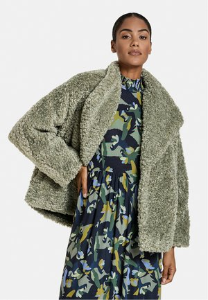 WEBPELZ  MIT FLEDERMAUSÄRMELN - Winter jacket - reed green