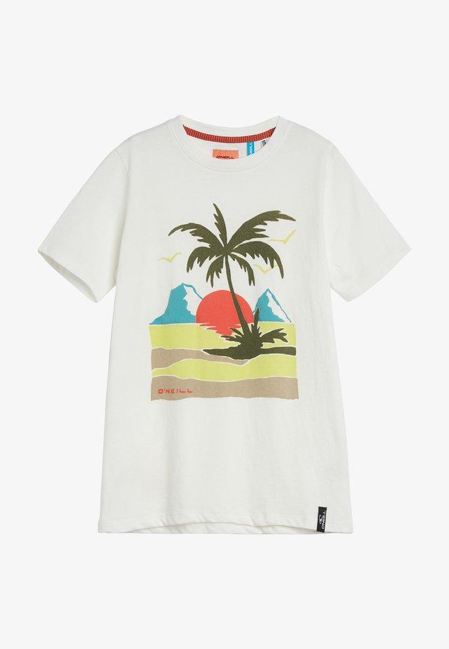 PALM  - T-shirt print - powder white