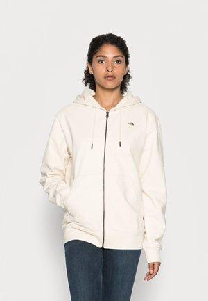 RECYCLED SCRAP GRAPHIC HOODIE - Zip-up sweatshirt - raw undyed