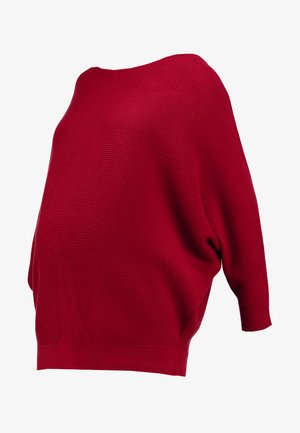 WRAP BACK BATWING JUMPER - Strikkegenser - wine