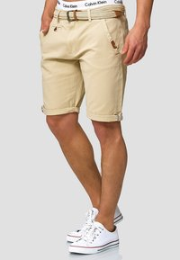 INDICODE JEANS - CASUAL FIT - Shorts - fog - 0