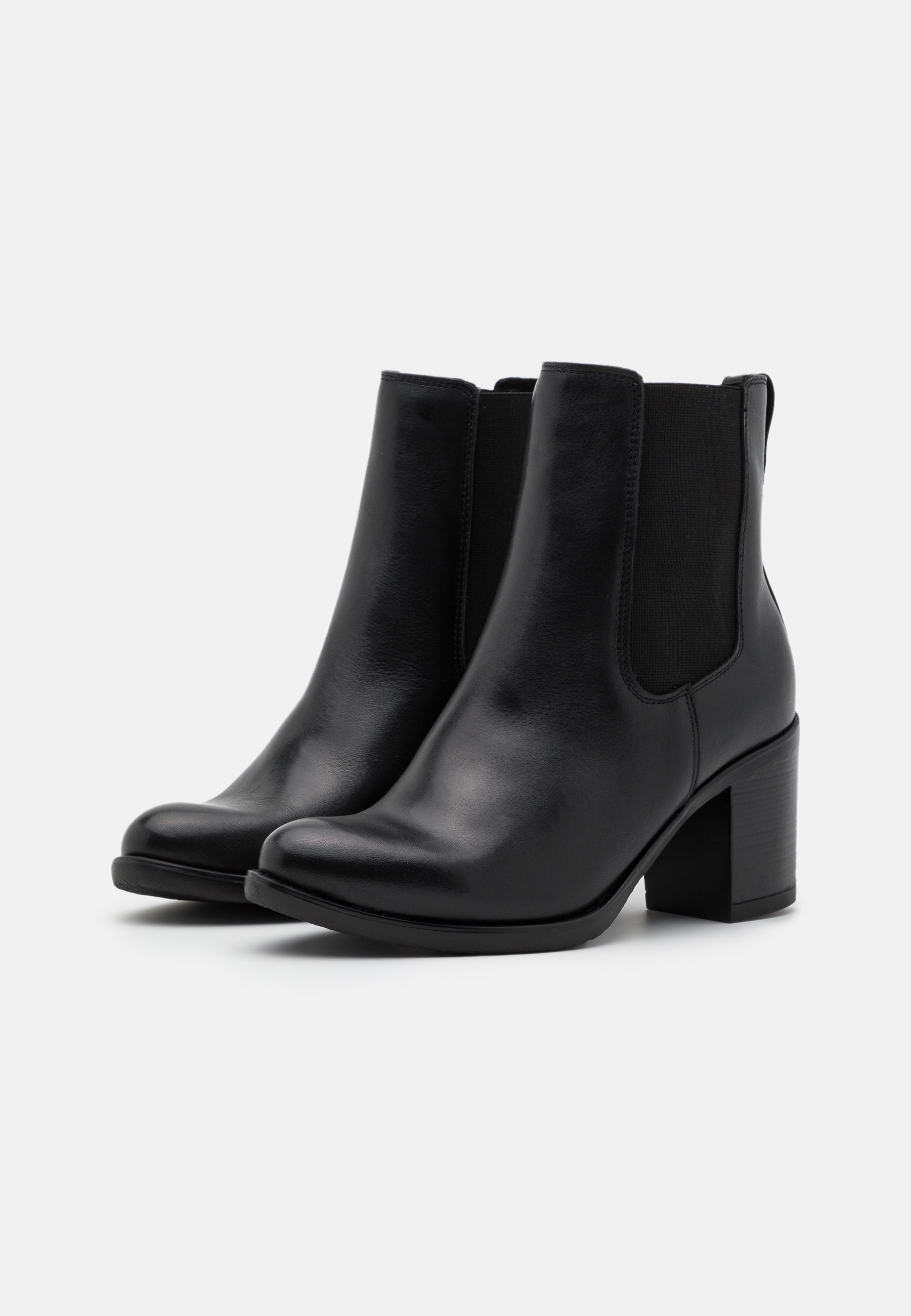 Anna Field LEATHER Stiefelette black/schwarz