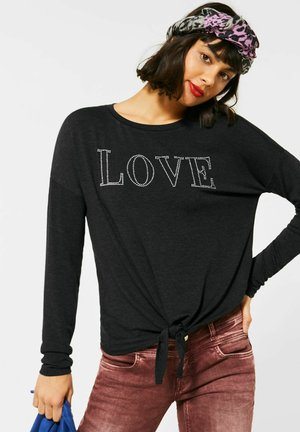 MIT STEINCHEN-DEKO - Long sleeved top - grau