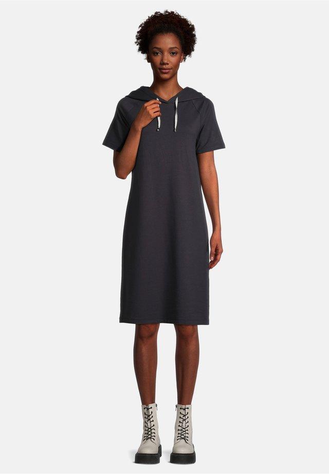 MIT KAPUZE - Korte jurk - dunkelblau