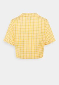 Kickers Classics - CHECK CROPPED - Button-down blouse - yellow - 1