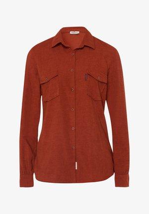Button-down blouse - brick