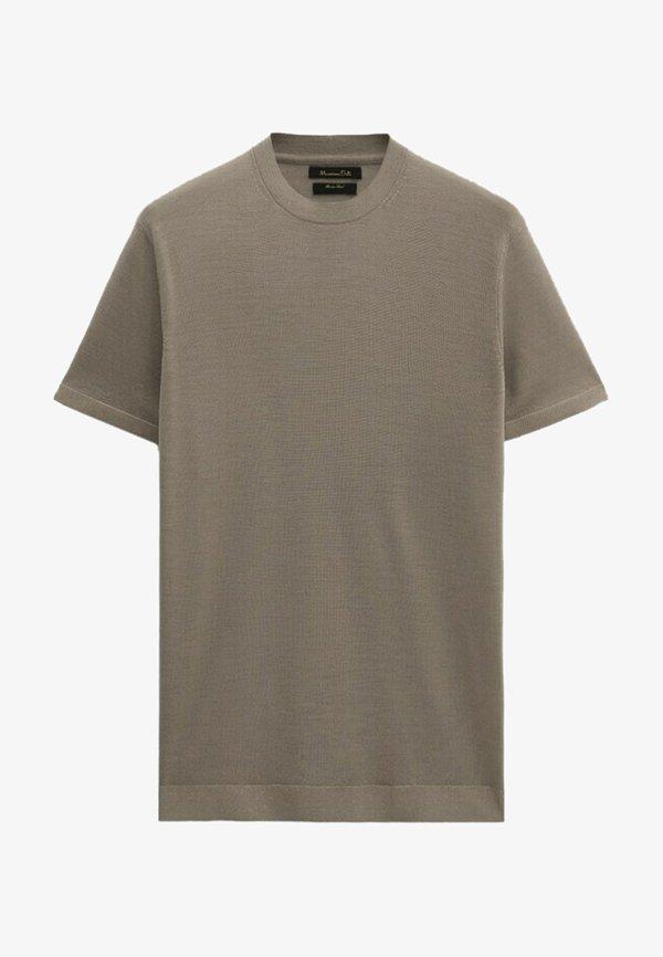 Massimo Dutti T-shirt basic - brown/brązowy Odzież Męska BJAM