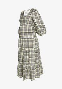 Topshop Maternity - CHECK TIERED NECK - Maxi dress - green - 5