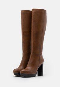 Steven New York - JAMILA - High heeled boots - cognac - 2