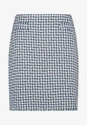 A-line skirt - blau gemustert