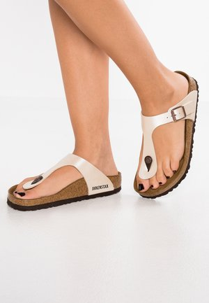 GIZEH  - T-bar sandals - pearl white