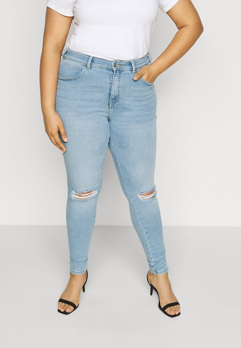 Dr.Denim Plus - LEXY - Jeans Skinny Fit - icicle blue ripped