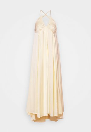 LUMEN STRAP MIDI DRESS - Iltapuku - transparent yellow