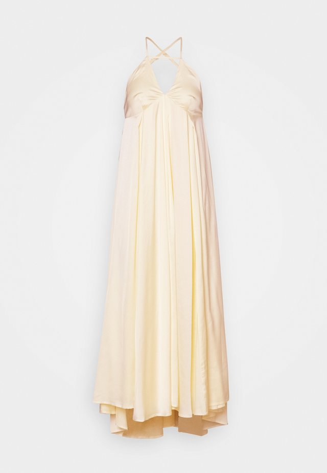 LUMEN STRAP MIDI DRESS - Abito da sera - transparent yellow