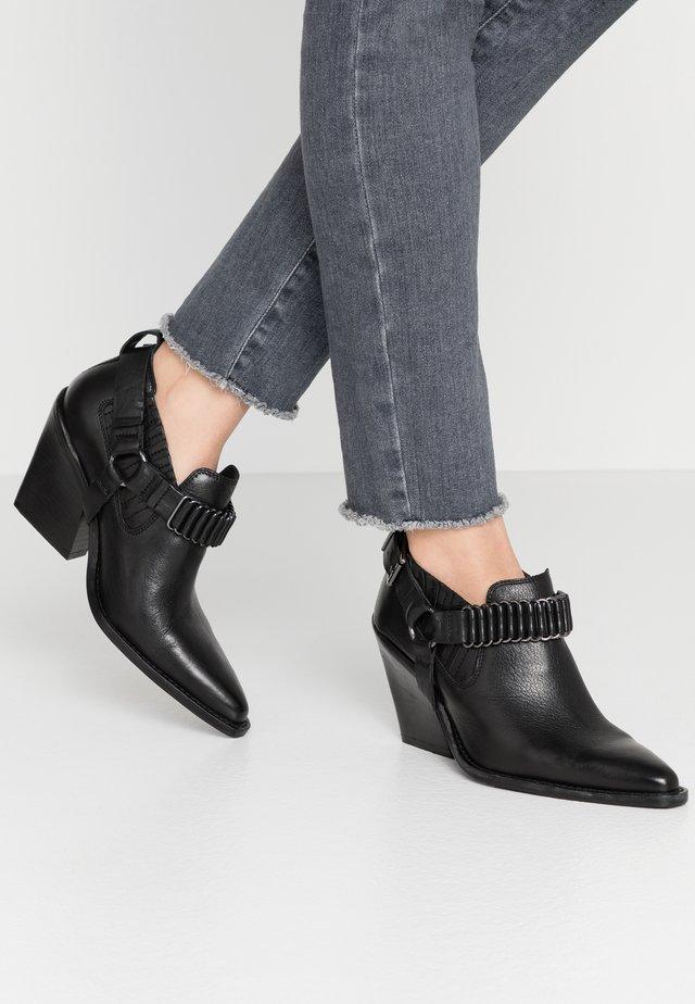 NEW KOLE - Kotníková obuv na vysokém podpatku - black