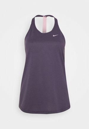 DRY ELASTIKA TANK - Sports shirt - dark raisin/pink glaze