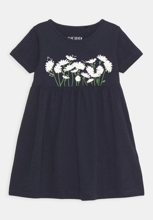 SMALL GIRLS DRESS DAISY - Jerseykjoler - nachtblau