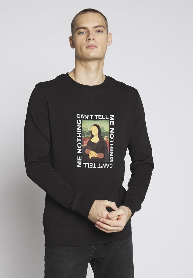 CAN'T TELL ME NOTHING TEE - Sudadera - black